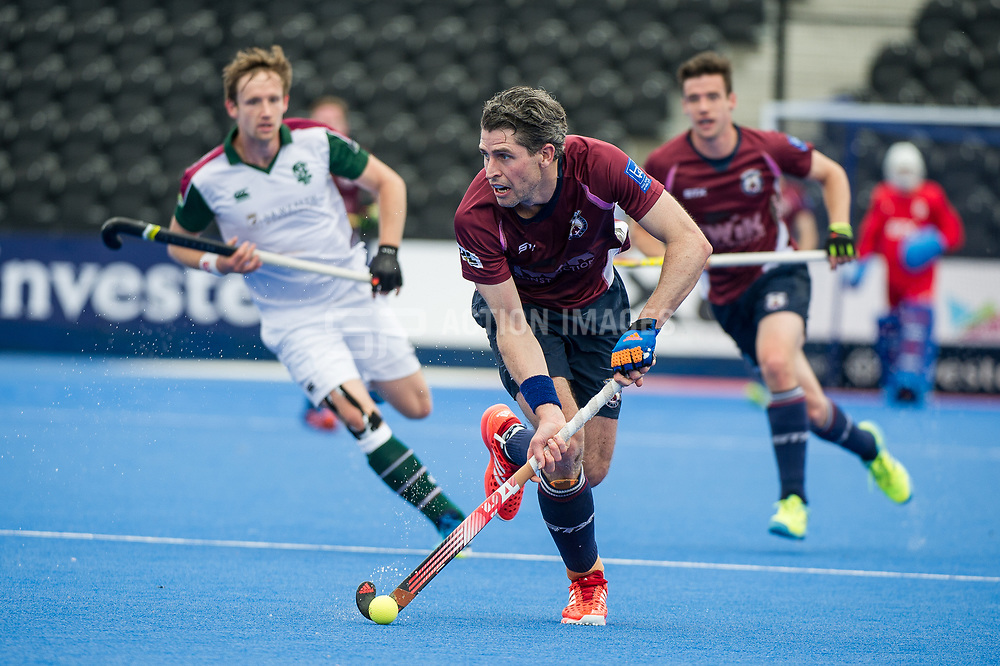Wimbledon's Simon Mantell. Wimbledon v Surbiton - Men's Hockey League Final, Lee Valley Hockey & Tennis Centre, London, UK on 23 April 2017. Photo: Simon Parker