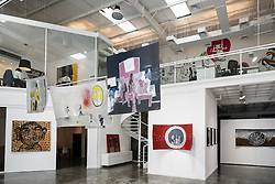 Mojo art gallery at Alserkal Avenue warehouses in Al Quoz district in Dubai United Arab Emirates