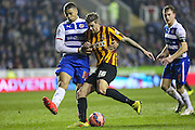 Jonathan Stead & Michael Hector during the The FA Cup match between Reading and Bradford City at the Madejski Stadium, Reading, England on 16 March 2015. Photo by Shane Healey.