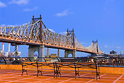 New York City. The 59th Street, Queensboro Bridge, renamed the Ed Koch Bridge, as seen from the Sutton Place neigborhood.