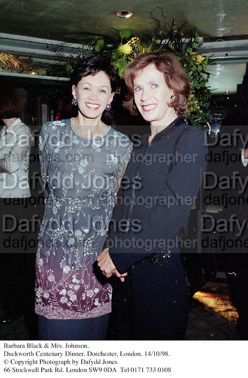 Barbara Black & Mrs. Johnson.<br />