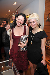 Left to right, KATIE GRAND and PIXIE GELDOF at a party in aid of the charity Best Buddies held at the Hogan store, 10 Sloane Street, London SW10 on 13th May 2009.