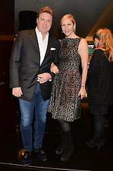 TANIA BRYER and ROD BARKER at the Launch Of Alain Ducasse's Rivea Restaurant At The Bulgari Hotel, 171 Knightsbridge, London on 8th May 2014.