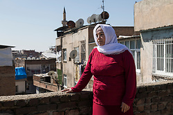 Zaide Gul, 37, photographed in Diyarbakir, Turkey on March 23, 2017. Gul lost her home in the Hasirli neighborhood in Sur.