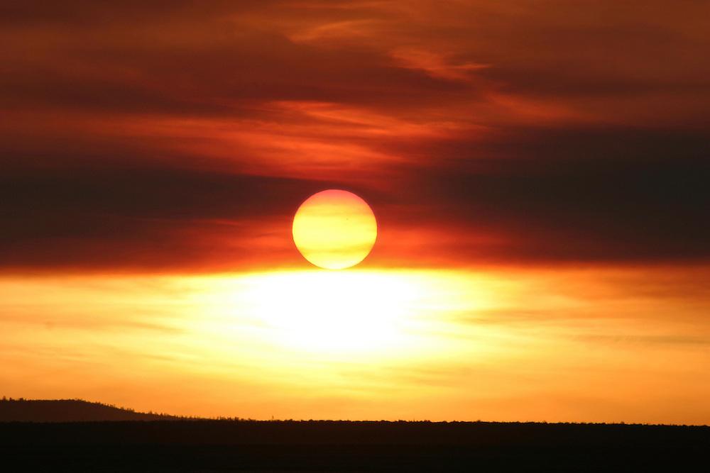 Spectacular Sunset near Winslow, Arizona, Arizona
