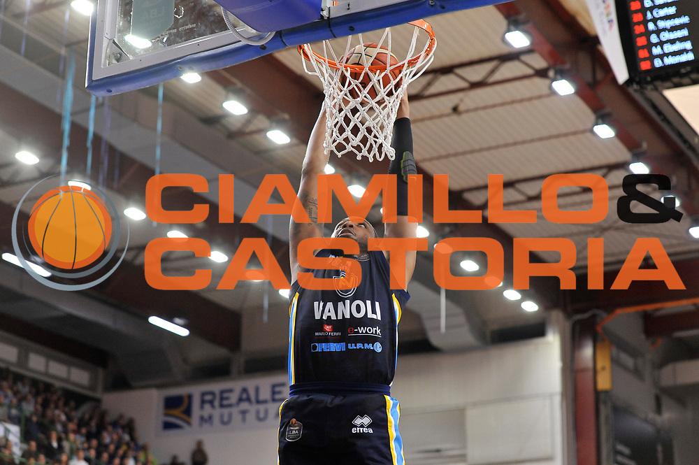 TaShawn Thomas<br /> Banco di Sardegna Dinamo Sassari - Vanoli Cremona<br /> LegaBasket Serie A LBA Poste Mobile 2016/2017<br /> Sassari 26/11/2016<br /> Foto Ciamillo-Castoria