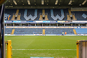View from the players tunnel at Adams Park during the Sky Bet League 2 match between Wycombe Wanderers and Barnet at Adams Park, High Wycombe, England on 16 April 2016. Photo by Dennis Goodwin.