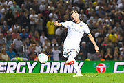 Leeds United defender Barry Douglas (3) during the penalty shoot out during the EFL Cup match between Leeds United and Stoke City at Elland Road, Leeds, England on 27 August 2019.