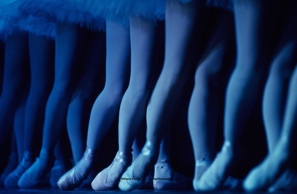 Ballerinas performing in Swan Lake at the Palace of the Republic, Almaty, Kazakhstan