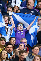 March 17, 2018 - Rome, Italy - Rugby NatWest 6 Nations: Italy v Scotland.Scotland supporters celebrate at Olimpico Stadium in Rome, Italy on March 17, 2017. (Credit Image: © Matteo Ciambelli/NurPhoto via ZUMA Press)