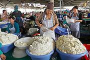 Uzbekistan, Tashkent. Chorsu Bazaar. Cream cheese.