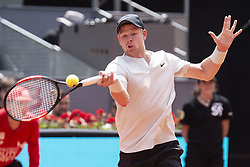 May 9, 2018 - Madrid, Spain - British Kyle Edmund during Mutua Madrid Open 2018 at Caja Magica in Madrid, Spain. May 09, 2018. (Credit Image: © Coolmedia/NurPhoto via ZUMA Press)