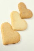 3 heart shaped cookies