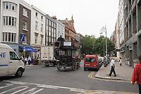 Eco-friendly Victorian carriage tour ride on Dawson Street in Dublin Ireland