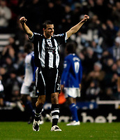 Photo: Jed Wee/Sportsbeat Images.<br /> Newcastle United v Birmingham City. The FA Barclays Premiership. 08/12/2007.<br /> <br /> Newcastle's Steven Taylor celebrates after their equaliser from the penalty spot.