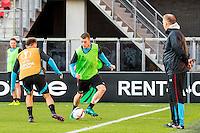 ALKMAAR - 19-10-2016, training persconferentie AZ, AFAS Stadion, AZ speler Thomas Ouwejan, AZ trainer John van den Brom