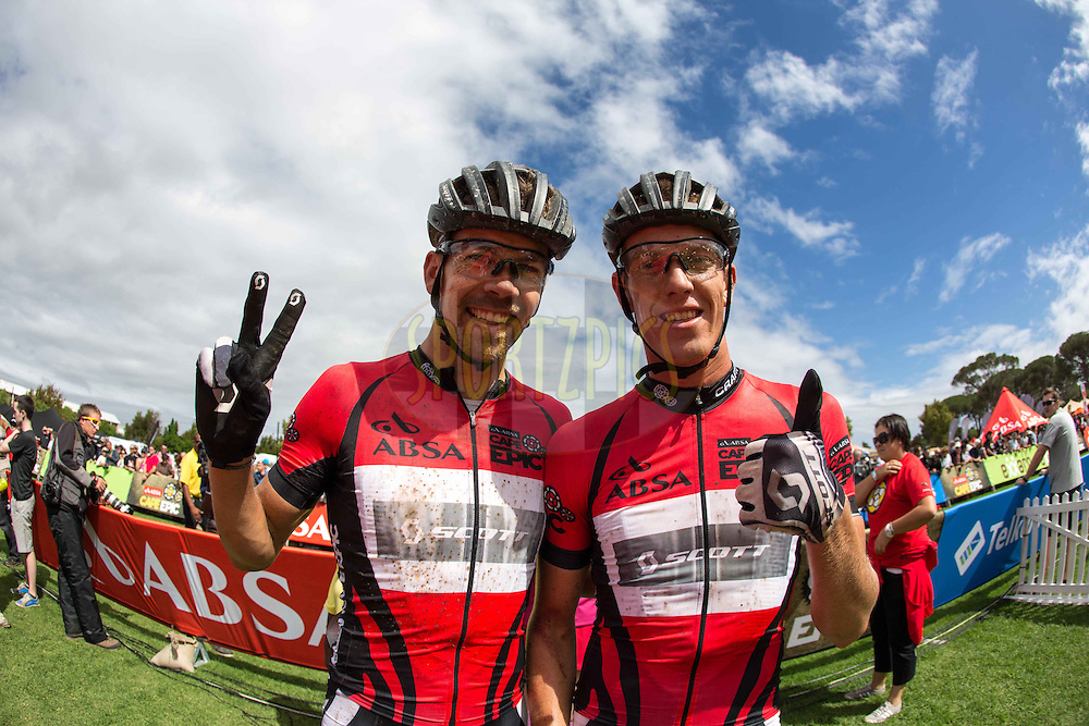 Philip Buys(RSA) and Matthys Beukes(RSA) of SCOTT Factory Racing  during stage 6 of the 2013 Absa Cape Epic Mountain Bike stage race from Wellington to Stellenbosch, South Africa on the 23 March 2013..Photo by Nick Muzik/Cape Epic/SPORTZPICS