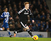 Brentford midfielder Ryan Woods during the Sky Bet Championship match between Brighton and Hove Albion and Brentford at the American Express Community Stadium, Brighton and Hove, England on 5 February 2016. Photo by Bennett Dean.