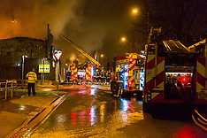 2018-01-09 Paint factory fire at Staples Corner, London