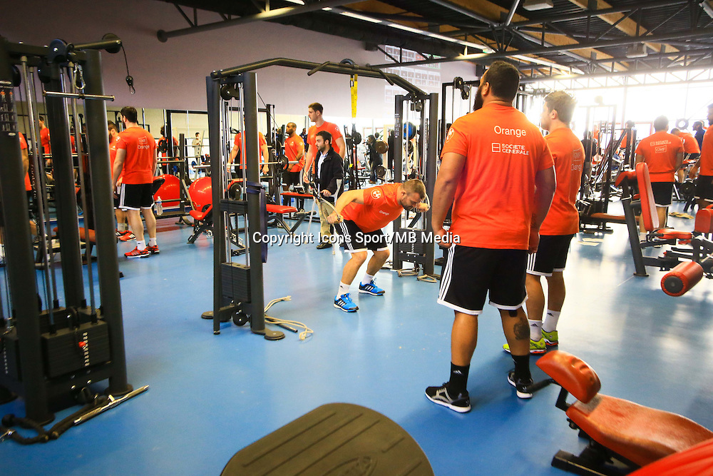 Illustration Salle Musculation - 27.01.2015 - Entrainement XV de France - Canet en Rousillon -<br />