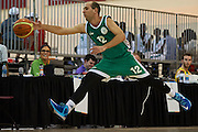 Istvan Velkei SO Hungary athlete in action while basketball match SO Hungary v SO Australia during second day of the Special Olympics World Games Los Angeles 2015 on July 26, 2015 on Galen Center at University of Southern California in Los Angeles, USA.<br /> USA, Los Angeles, July 26, 2015<br /> <br /> Picture also available in RAW (NEF) or TIFF format on special request.<br /> <br /> For editorial use only. Any commercial or promotional use requires permission.<br /> <br /> Adam Nurkiewicz declares that he has no rights to the image of people at the photographs of his authorship.<br /> <br /> Mandatory credit:<br /> Photo by &copy; Adam Nurkiewicz / Mediasport