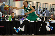 Istvan Velkei SO Hungary athlete in action while basketball match SO Hungary v SO Australia during second day of the Special Olympics World Games Los Angeles 2015 on July 26, 2015 on Galen Center at University of Southern California in Los Angeles, USA.<br /> USA, Los Angeles, July 26, 2015<br /> <br /> Picture also available in RAW (NEF) or TIFF format on special request.<br /> <br /> For editorial use only. Any commercial or promotional use requires permission.<br /> <br /> Adam Nurkiewicz declares that he has no rights to the image of people at the photographs of his authorship.<br /> <br /> Mandatory credit:<br /> Photo by © Adam Nurkiewicz / Mediasport