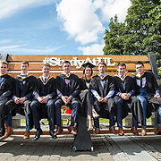 "24.08.2016        <br /> Over 300 students graduated from the Faculty of Science and Engineering at the University of Limerick today. <br /> <br /> Attending the conferring ceremony were graduates, Daragh Harrison, Tommy Hearne, Alan Wade, Kevin Donnelly, Stephanie Flanagan, Matthew O'Shea, Conor O'Donoghue and Eoin Sheil. Picture: Alan Place.<br /> <br /> As the University of Limerick commences four days of conferring ceremonies which will see 2568 students graduate, including 50 PhD graduates, UL President, Professor Don Barry highlighted the continued demand for UL graduates by employers; ""Traditionally UL's Graduate Employment figures trend well above the national average. Despite the challenging environment, UL's graduate employment rate for 2015 primary degree-holders is now 14% higher than the HEA's most recently-available national average figure which is 58% for 2014"". The survey of UL's 2015 graduates showed that 92% are either employed or pursuing further study."" Picture: Alan Place"