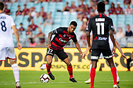 SYDNEY, NSW - JANUARY 18: Western Sydney Wanderers player Kwame Yeboah (27) controls the ball at the Hyundai A-League Round 14 soccer match between Western Sydney Wanderers and Adelaide United at ANZ Stadium in NSW, Australia 18 January 2019. Image by (Speed Media/Icon Sportswire)