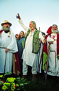 The Druids paying tribute to the sun, Uk June 2005