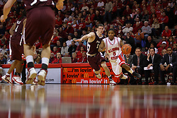 "05 January 2008: Keith ""boo"" Richardson turns the corner on Bryan Mullins. The Redbirds of Illinois State took the bite out of the Salukis of Southern Illinois winning the Conference home opener for the 'birds on Doug Collins Court in Redbird Arena in Normal Illinois by a score of 56-47."
