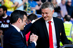 Manchester United manager Ole Gunnar Solskjaer and Everton manager Marco Silva shake hands - Mandatory by-line: Robbie Stephenson/JMP - 21/04/2019 - FOOTBALL - Goodison Park - Liverpool, England - Everton v Manchester United - Premier League