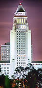Los Angeles City Hall at Dusk