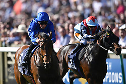 Tribal Quest ridden by William Buick (left) wins the Hot Streak Handicapduring day one of the QIPCO Guineas Festival at Newmarket Racecourse.