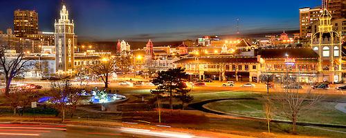 Panorama Photo Of Kansas City, Missouriu0027s Country Club Plaza Lights.  December 2015.