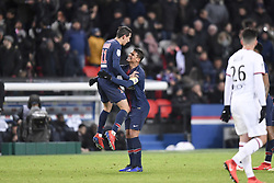 January 27, 2019 - Paris, France - 11 ANGEL DI MARIA (PSG) - 02 THIAGO SILVA (PSG) - JOIE (Credit Image: © Panoramic via ZUMA Press)
