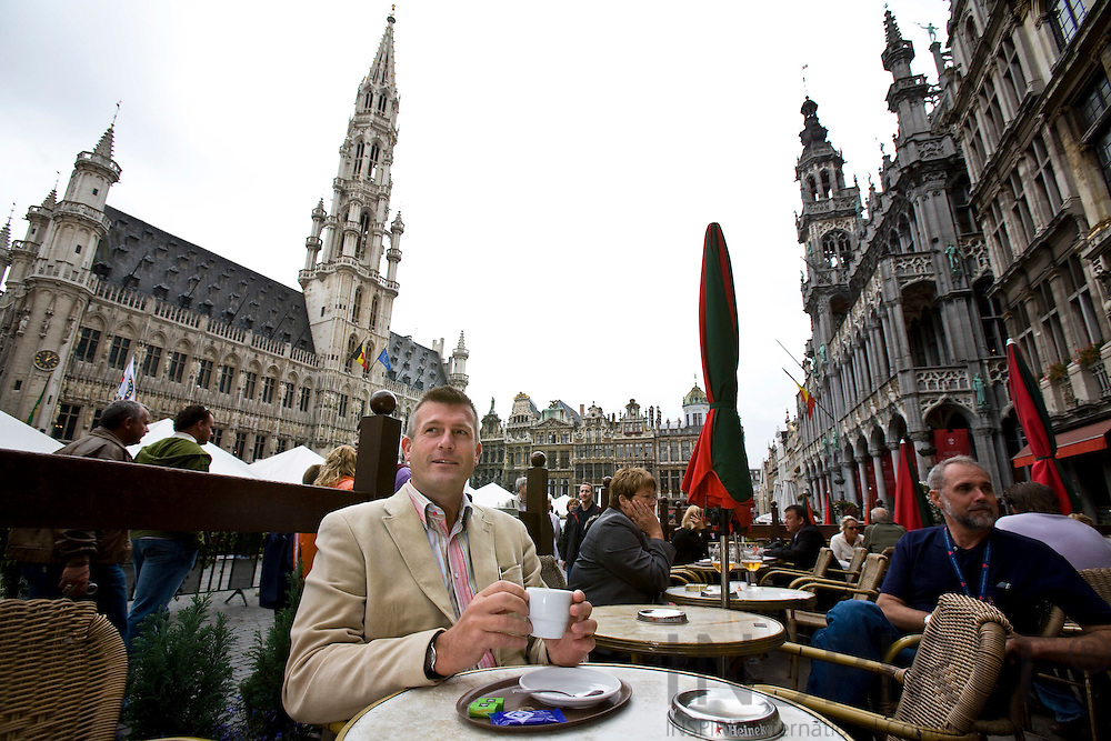 BRUSSELS - BELGIUM - 31 AUGUST 2007 -- Jerker STATTIN, Counsellor for Culture issues and Massmedia at the Permanent Representation of Sweden to the European Union, at the Grand Place in Brussels. Photo: Erik Luntang