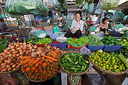 Phnom Penh, Cambodia. Central Market. Vegetables.