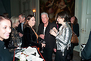 ALEX SHULMAN; NICKY HASLAM; GEORGIA COLERIDGE, Dinner to mark 50 years with Vogue for David Bailey, hosted by Alexandra Shulman. Claridge's. London. 11 May 2010