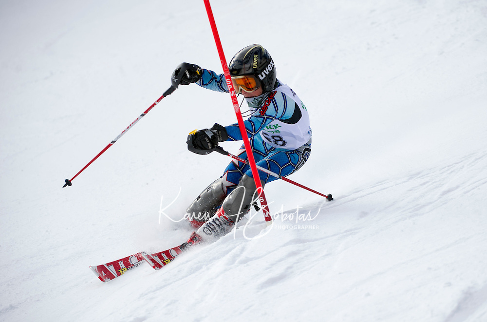 Piche Invitational Slalom U12 boys 1st run Sunday, March 17, 2013.  Karen Bobotas Photographer