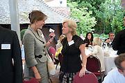 BABA HOBART; CHERYL MARKOVSKY, Archant Summer party. Kensington Roof Gardens. London. 7 July 2010. -DO NOT ARCHIVE-© Copyright Photograph by Dafydd Jones. 248 Clapham Rd. London SW9 0PZ. Tel 0207 820 0771. www.dafjones.com.