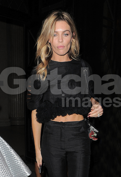 Model Abbey Clancy attends House of Holland SS 2015 catwalk show during London Fashion Week Spring Summer 2015 in London, UK. 13/09/2014 <br />