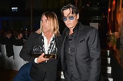 IGGY POP winner of the Icon Award and JOHNNY DEPP at the GQ Men Of The Year 2014 Awards in association with Hugo Boss held at The Royal Opera House, London on 2nd September 2014.