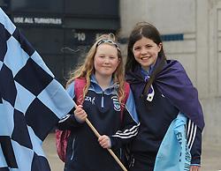 Westport fans at Croke park Ciara O'Malley and Sorcha McCarney.<br />Pic Conor McKeown