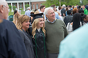 Shannon Dagg (Center) with her parents James and Michelle Dagg at undergraduate commencement. Photo by Ben Siegel