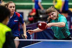 GALKINAMaria (RUS) and KOSMINA Natalya (UKR) during Team events at Day 3 of 16th Slovenia Open - Thermana Lasko 2018 Table Tennis for the Disabled, on May 10, 2019, in Dvorana Tri Lilije, Lasko, Slovenia. Photo by Grega Valancic / Sportida