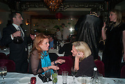 THE DUCHESS OF YORK; ELIZABETH MURDOCH; , Chinese New Year dinner given by Sir David Tang. China Tang. Park Lane. London. 4 February 2013.