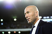 SEVILLE, SPAIN - OCTOBER 15:  Head Coach of Real Madrid CF Zinedine Zidane looks on during the match between Real Betis Balompie and Real Madrid CF as part of La Liga at Benito Villamrin stadium October 15, 2016 in Seville, Spain.  (Photo by Aitor Alcalde/Getty Images)