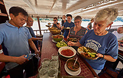 Laos. Luang Say Cruise on the Mekong. Lunch buffet aboard.