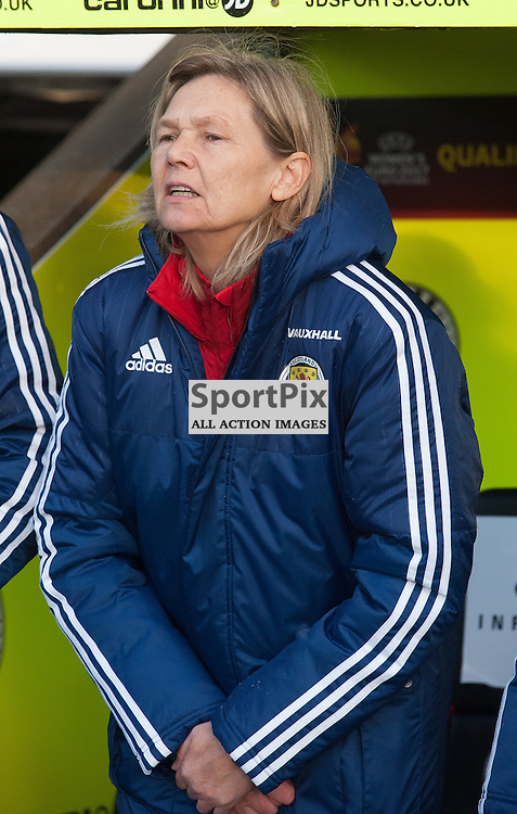 Anna Signeul (Scotland Womens national coach)<br /> <br /> UEFA Women's European Championship Qualifying - Group 1 <br /> Scotland v FYR Macedonia<br /> St Mirren Park, Paisley<br /> Sunday 29 November 2015<br /> <br /> &copy; Russel Hutcheson | SportPix 2015