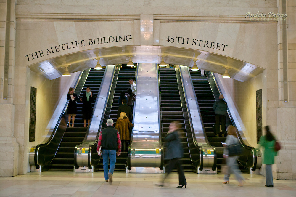 Escalators to the Metlife Building, Grand Central Terminal